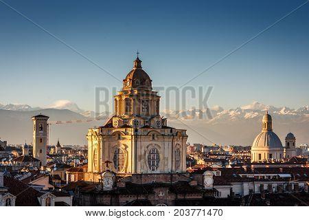 The Church Of San Lorenzo, Turin, Italy