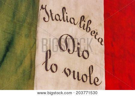 Old Italian Flag Saying