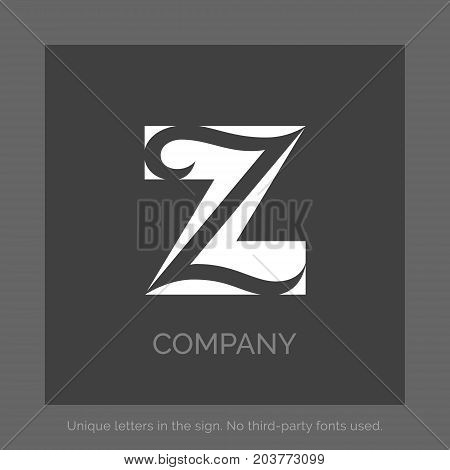 Creative Z letter vector sign design. Lettering Logo. Character symbols. Icon design for website