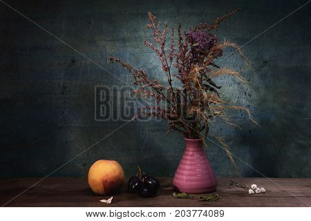 Flowers Colored Still Life