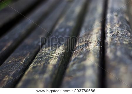 Old vintage rustic aged antique wooden sepia surface with gaps in perspective.