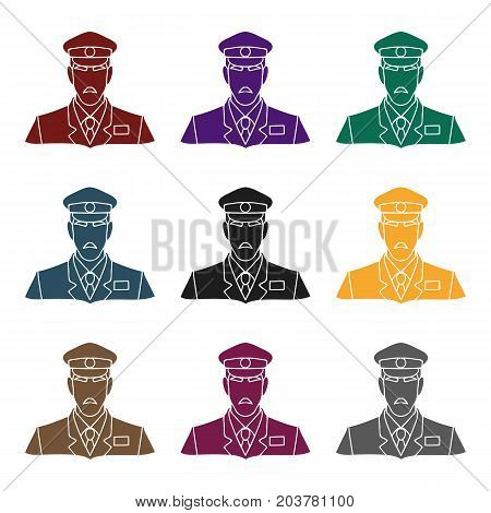 Museum security guard icon in black style isolated on white background. Museum symbol vector illustration.
