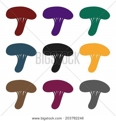 Milk mushroom icon in black style isolated on white background. Mushroom symbol vector illustration.
