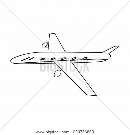 Freight aircraft. Transport and delivery single icon in outline style isometric vector symbol stock illustration .