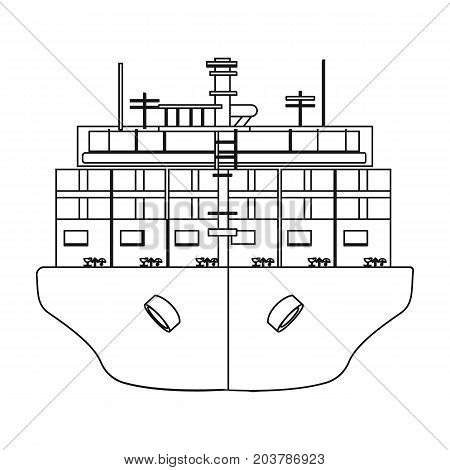 Transportation of goods by sea. Transportation and delivery single icon in outline style isometric vector symbol stock illustration .