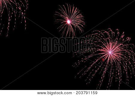 Firework with spider effect. Shell containing fast burning tailed or charcoal star that is burst very hard, stars travel trajectory before slightly falling, burning out. Appears in the sky as series of radial lines much like the legs of spider