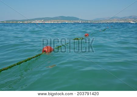 Line Buoy On The Sea