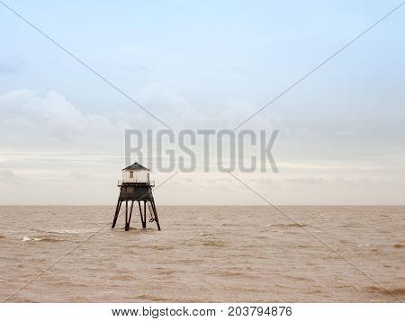 Old Sea Structure Light House Harwich Sea Bay Beach