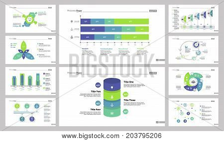 Statistics and algorithm chart set can be used for workflow layout, annual report, presentation. Management concept. Option, flower, comparison bar, percentage, process, cycled, labyrinth flow charts