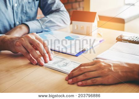 Hand Giving Money United States Dollars Bills ,hand Receiving Money From Businessman