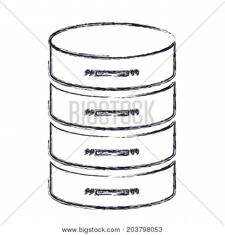 server hosting storage icon in blurred silhouette vector illustration