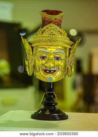 Phra Guru Rishi or Phra Bharatamuni mask