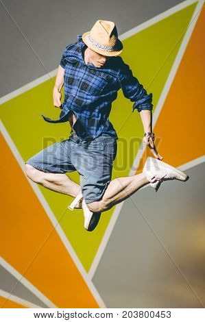 street dancer outside wall colorful dancing breakdance