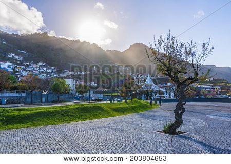 Porto Moniz village at Madeira island Portugal