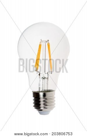 Modern light bulb isolated on white background