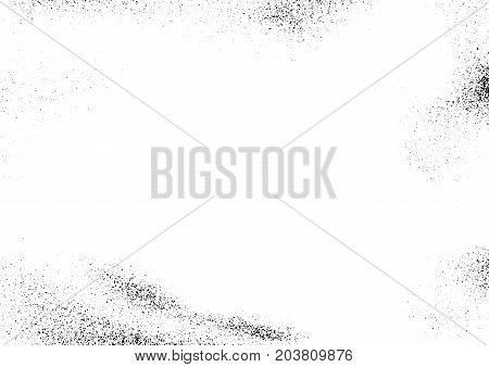 Grungy abstract noise particle halftone vintage grain effect template. Easy create fashionable retro scratched rough old layout. Vector illustration