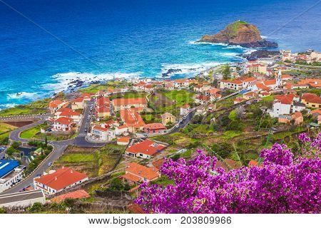 Porto Moniz little village at Madeira island Portugal
