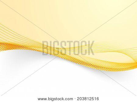 Bright orange futuristic flowing lines border background. Vector illustration