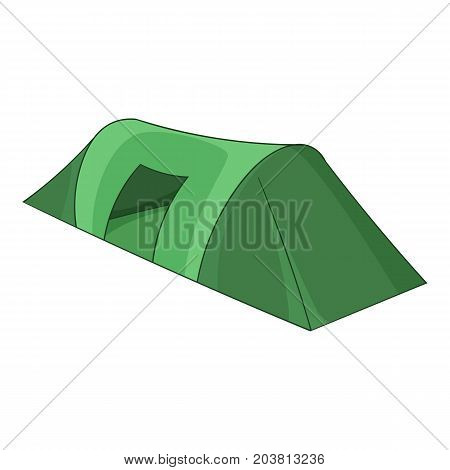Long tent icon. Cartoon illustration of long tent vector icon for web