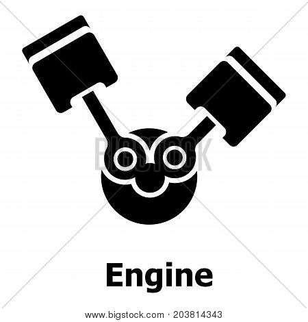 Engine icon. Simple illustration of engine vector icon for web
