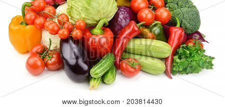 A set vegetables isolated on white background