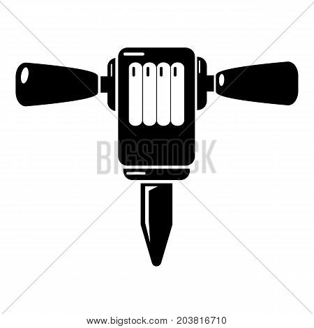 Mining hammer drill icon . Simple illustration of mining hammer drill vector icon for web design isolated on white background