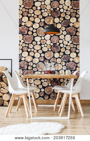 Dining Room With Winter Design