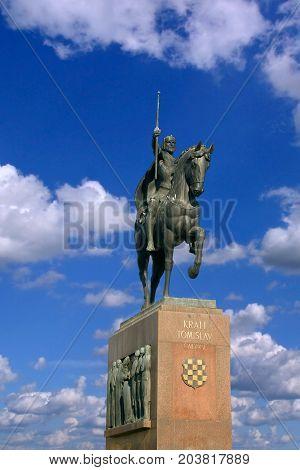 Monument of the Croatian King Tomislav in Zagreb Croatia