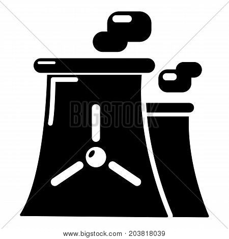Nuclear power plant tower icon. Simple illustration of nuclear power plant tower vector icon for web isolated on white background