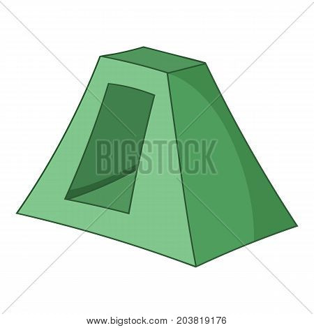 Textile tent icon. Cartoon illustration of textile tent vector icon for web
