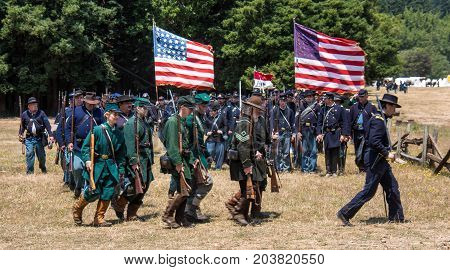 Union Soldiers Marching