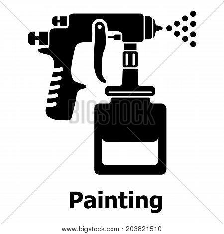 Spray gun icon. Simple illustration of spray gun vector icon for web