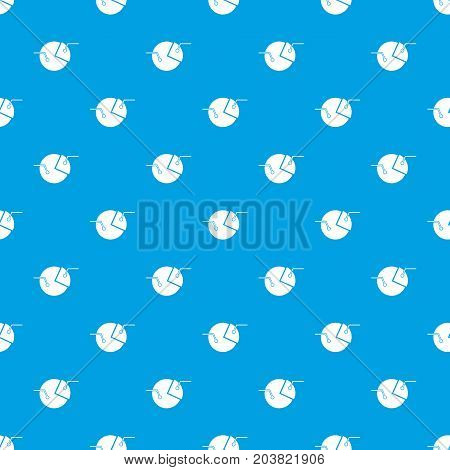 Percentage diagram pattern repeat seamless in blue color for any design. Vector geometric illustration