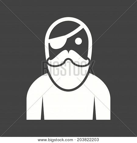 Male, pirate, character icon vector image. Can also be used for Pirate. Suitable for use on web apps, mobile apps and print media