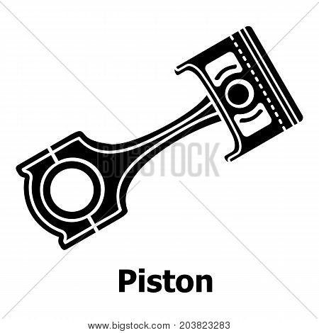 Piston icon. Simple illustration of piston vector icon for web