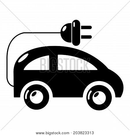 Modern electric car icon. Simple illustration of electric car vector icon for web design