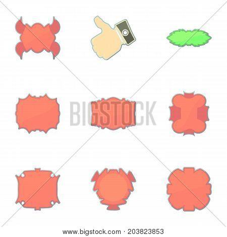 Badge for buyer icons set. Cartoon set of 9 badge for buyer vector icons for web isolated on white background