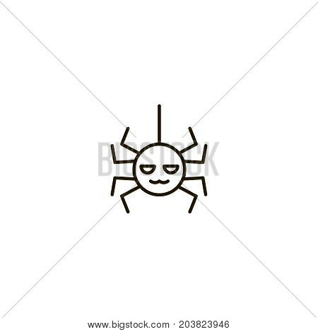 Spider flat icon. Single high quality symbol of line halloween vector for web design or mobile app. Color sign of party for design logo. Single pictogram on white background