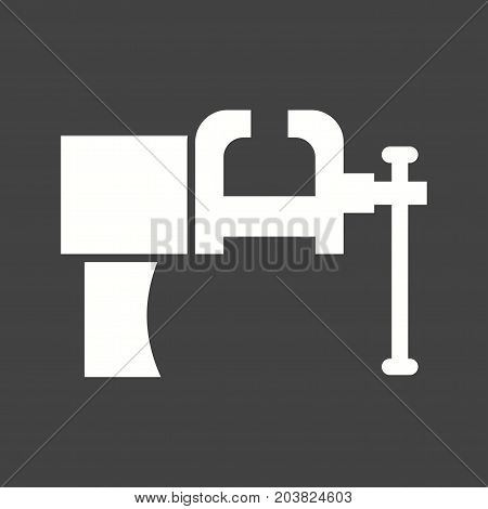 Vice, tool, pressure icon vector image. Can also be used for Hand Tools. Suitable for use on web apps, mobile apps and print media. poster