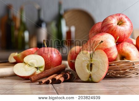 Apples On A Kitchen Table