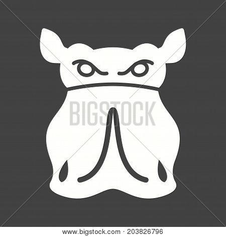 Rhino, africa, horn icon vector image. Can also be used for Animal Faces. Suitable for mobile apps, web apps and print media.