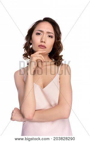 Pensive Asian Girl
