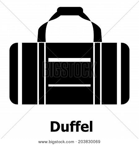 Duffel icon. Simple illustration of duffel vector icon for web