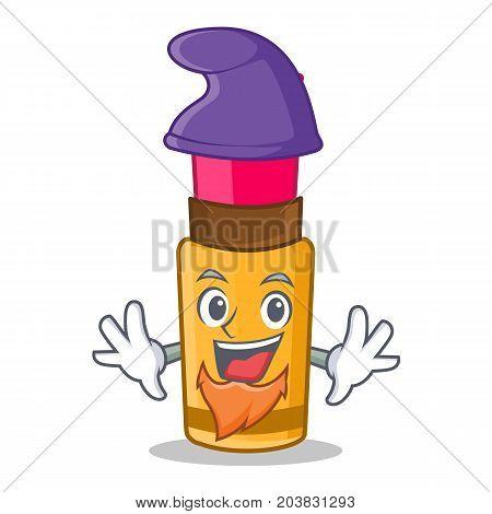 Elf lipstick character cartoon style vector illustration