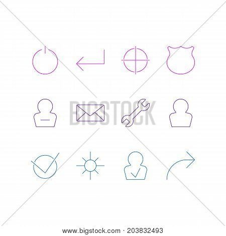 Editable Pack Of Guard, Yes, Positive And Other Elements.  Vector Illustration Of 12 Interface Icons.