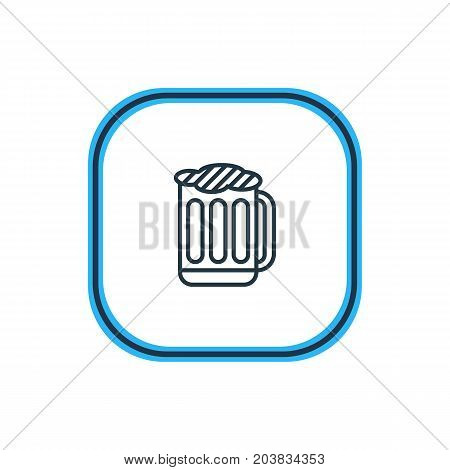 Beautiful Drinks Element Also Can Be Used As Draught Element.  Vector Illustration Of Beer Outline.