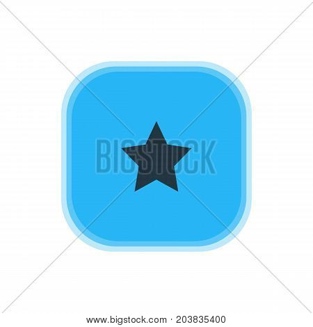 Beautiful Web Element Also Can Be Used As Bookmark Element.  Vector Illustration Of Star Icon.