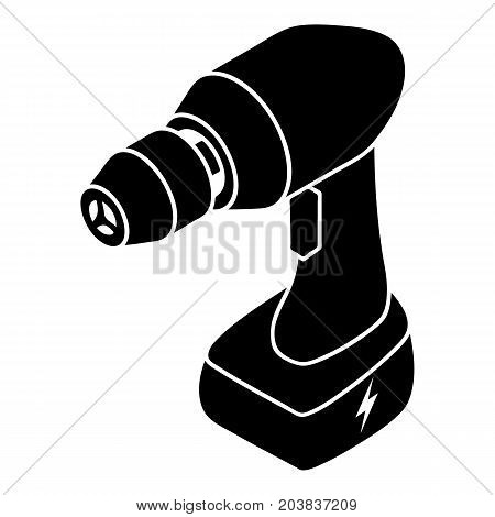 Cordless drill icon. Simple illustration of cordless drill vector icon for web design isolated on white background