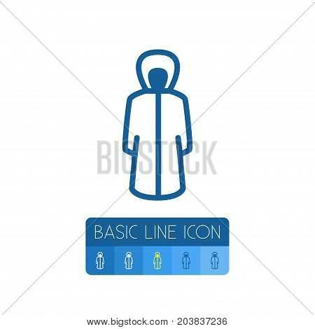 Protection Jacket Vector Element Can Be Used For Raincoat, Protection, Jacket Design Concept.  Isolated Raincoat Outline.