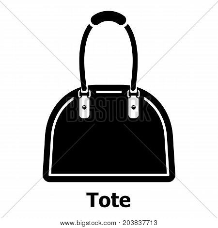 Tote bag icon. Simple illustration of tote bag vector icon for web